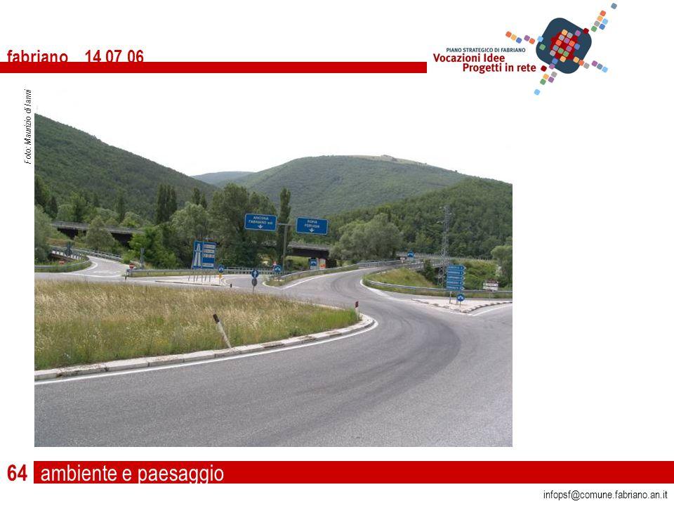 ambiente e paesaggio fabriano 14 07 06 infopsf@comune.fabriano.an.it Foto: Maurizio di Ianni 64