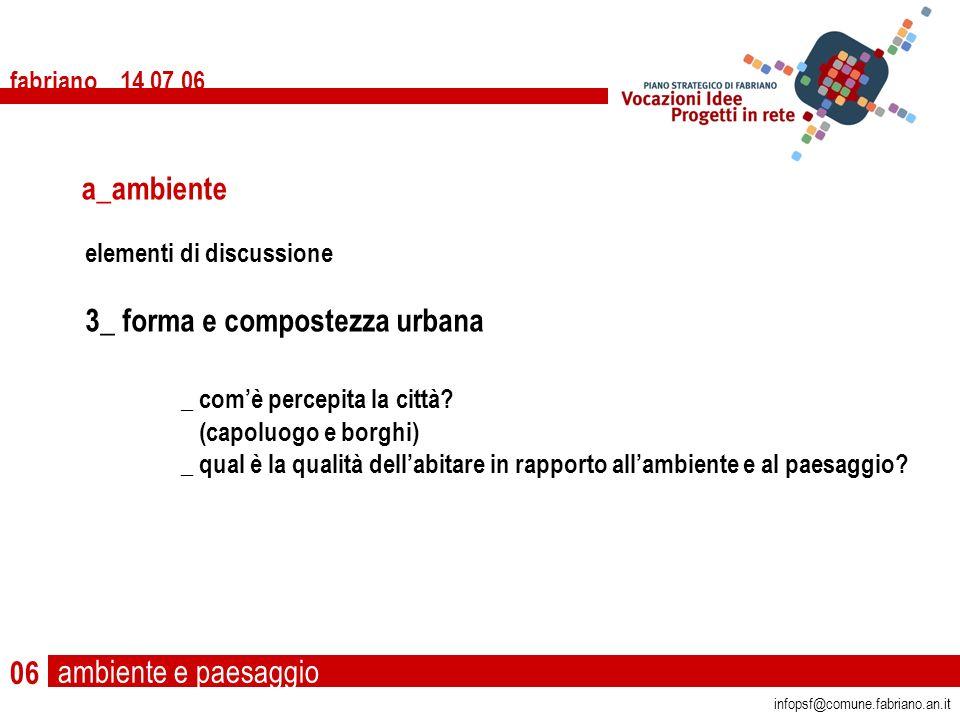 fabriano 14 07 06 06 infopsf@comune.fabriano.an.it elementi di discussione 3_ forma e compostezza urbana _ comè percepita la città.