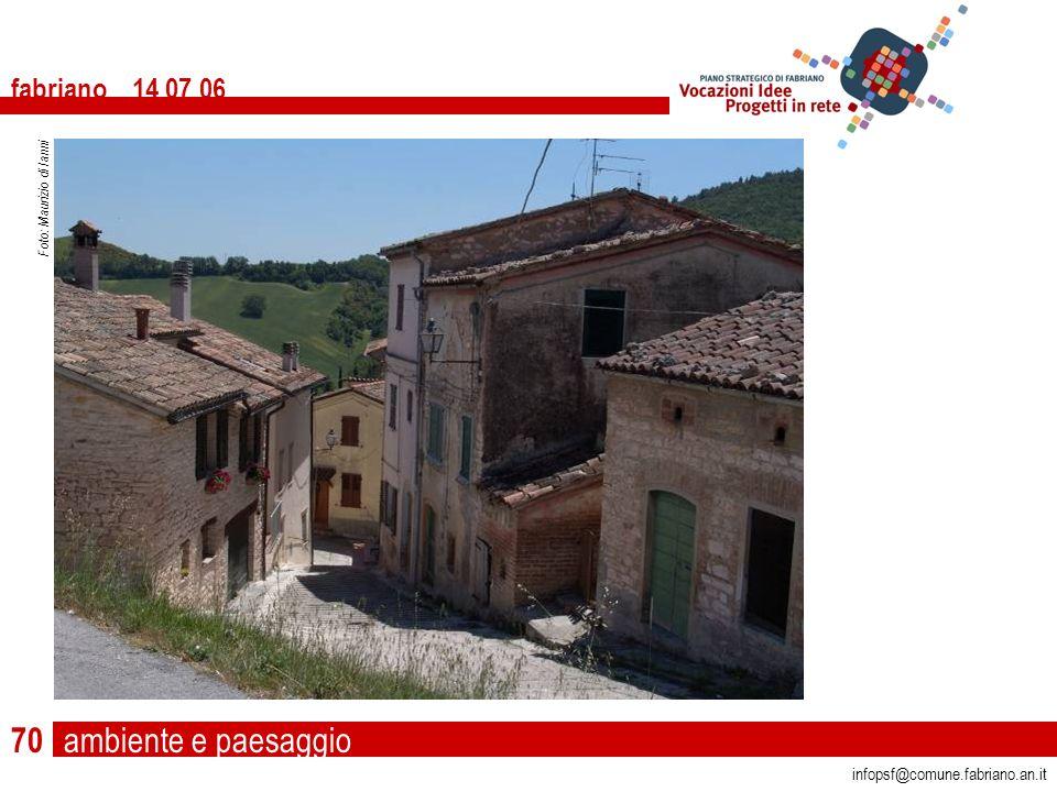 ambiente e paesaggio fabriano 14 07 06 infopsf@comune.fabriano.an.it Foto: Maurizio di Ianni 70
