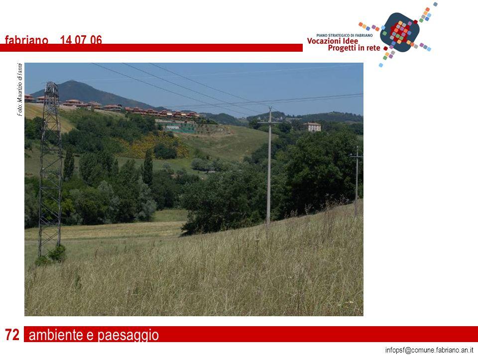 ambiente e paesaggio fabriano 14 07 06 infopsf@comune.fabriano.an.it Foto: Maurizio di Ianni 72