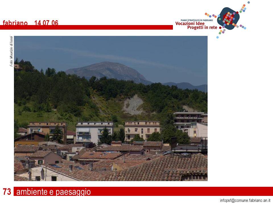 ambiente e paesaggio fabriano 14 07 06 infopsf@comune.fabriano.an.it Foto: Maurizio di Ianni 73