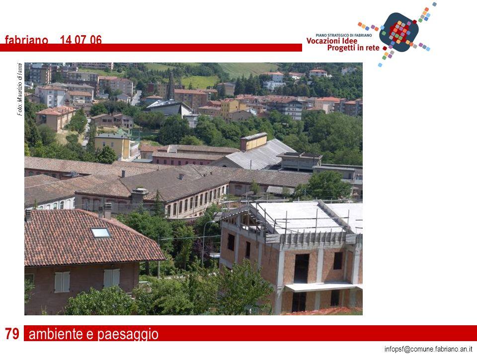 ambiente e paesaggio fabriano 14 07 06 infopsf@comune.fabriano.an.it Foto: Maurizio di Ianni 79