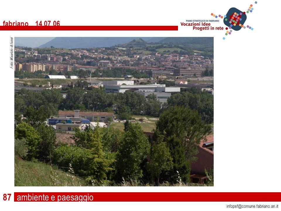 ambiente e paesaggio fabriano 14 07 06 infopsf@comune.fabriano.an.it Foto: Maurizio di Ianni 87