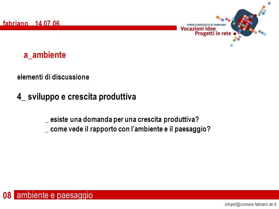 fabriano 14 07 06 08 elementi di discussione 4_ sviluppo e crescita produttiva _ esiste una domanda per una crescita produttiva.