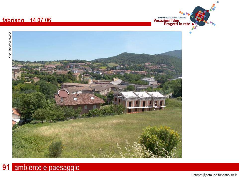 ambiente e paesaggio fabriano 14 07 06 infopsf@comune.fabriano.an.it Foto: Maurizio di Ianni 91
