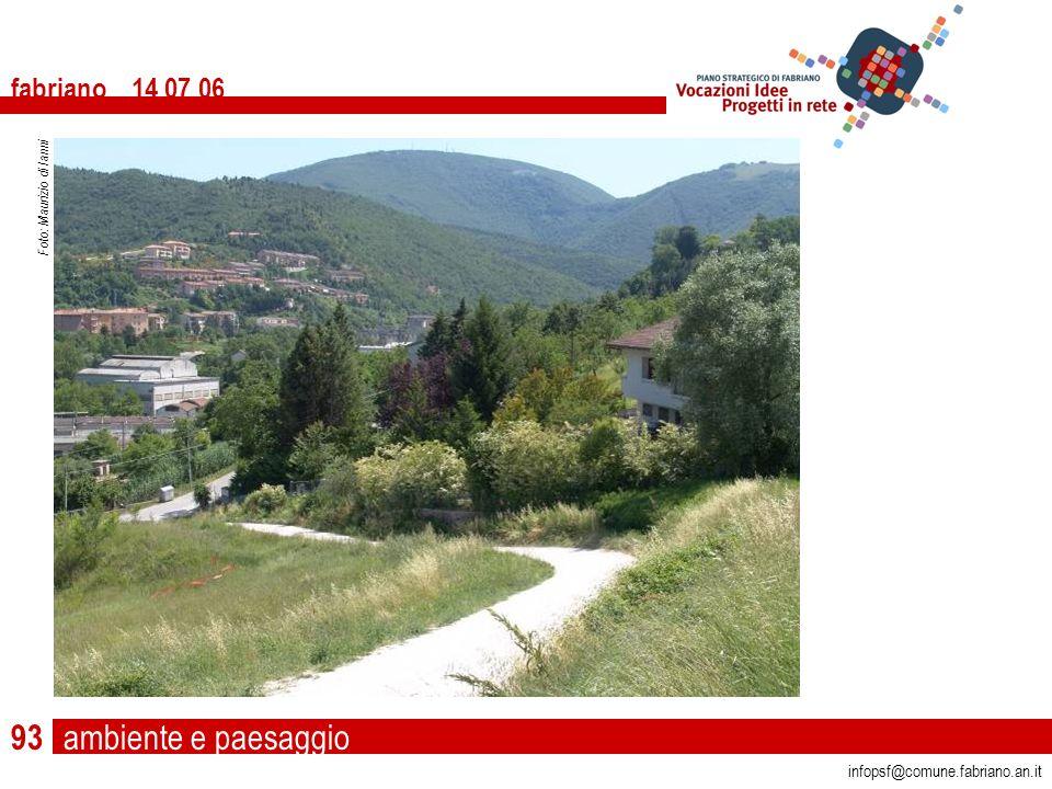 ambiente e paesaggio fabriano 14 07 06 infopsf@comune.fabriano.an.it Foto: Maurizio di Ianni 93