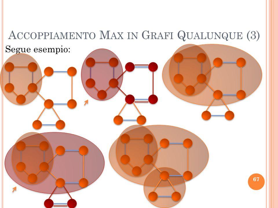 A CCOPPIAMENTO M AX IN G RAFI Q UALUNQUE (3) Segue esempio: 67
