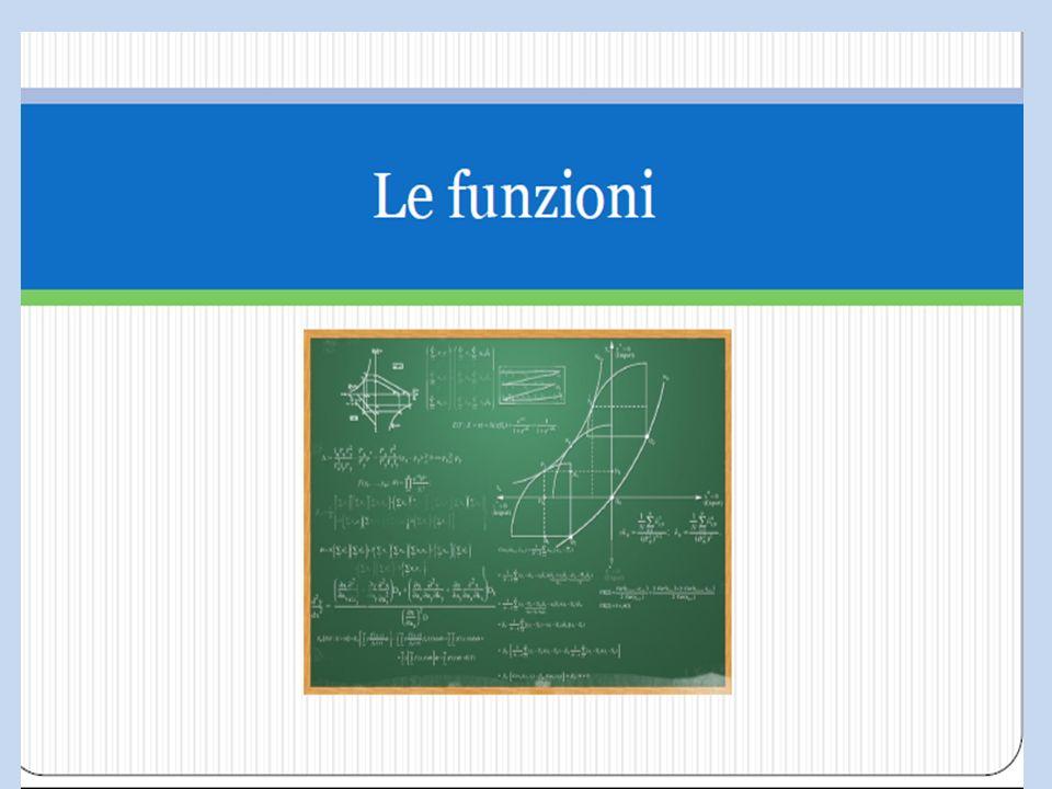 Cosè una funzione FUNZIONE : è una particolare corrispondenza tra gli elementi di due insiemi che: ad ogni elemento del primo insieme fa corrispondere uno ed un solo elemento del secondo insieme.