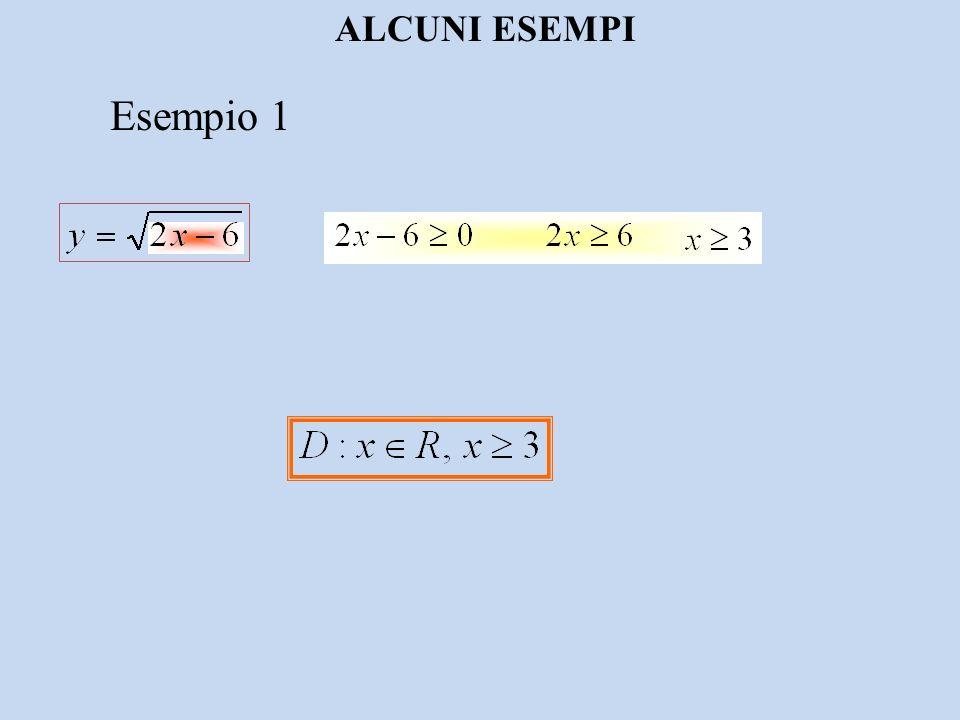 ALCUNI ESEMPI Esempio 1