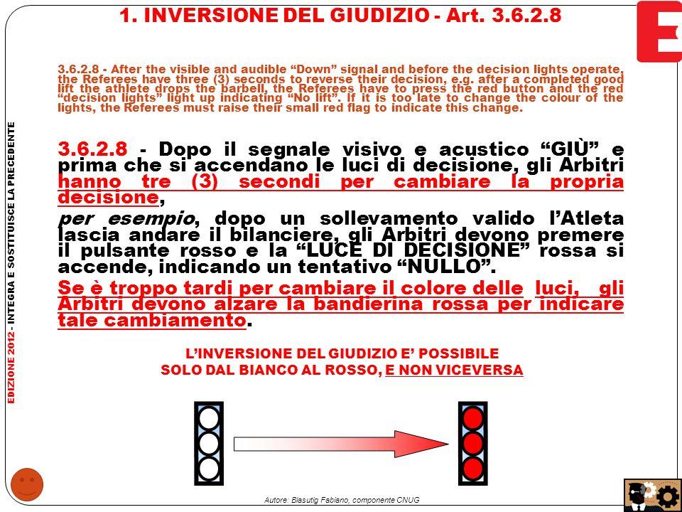 2.INVERSIONE DEL GIUDIZIO - Art.