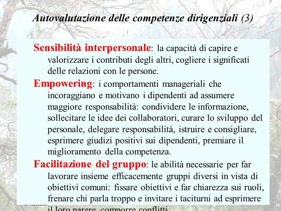 F. Tessaro - Valutazione di sistema 35 Autovalutazione delle competenze dirigenziali (3) Sensibilità interpersonale : la capacità di capire e valorizz