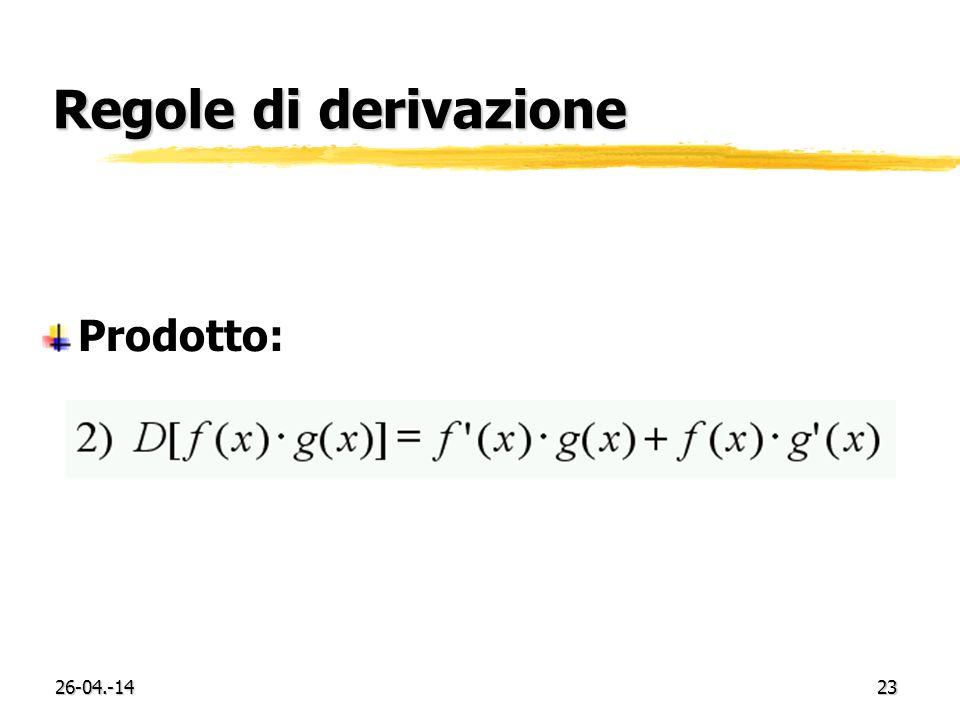 26-04.-1423 Regole di derivazione Prodotto: