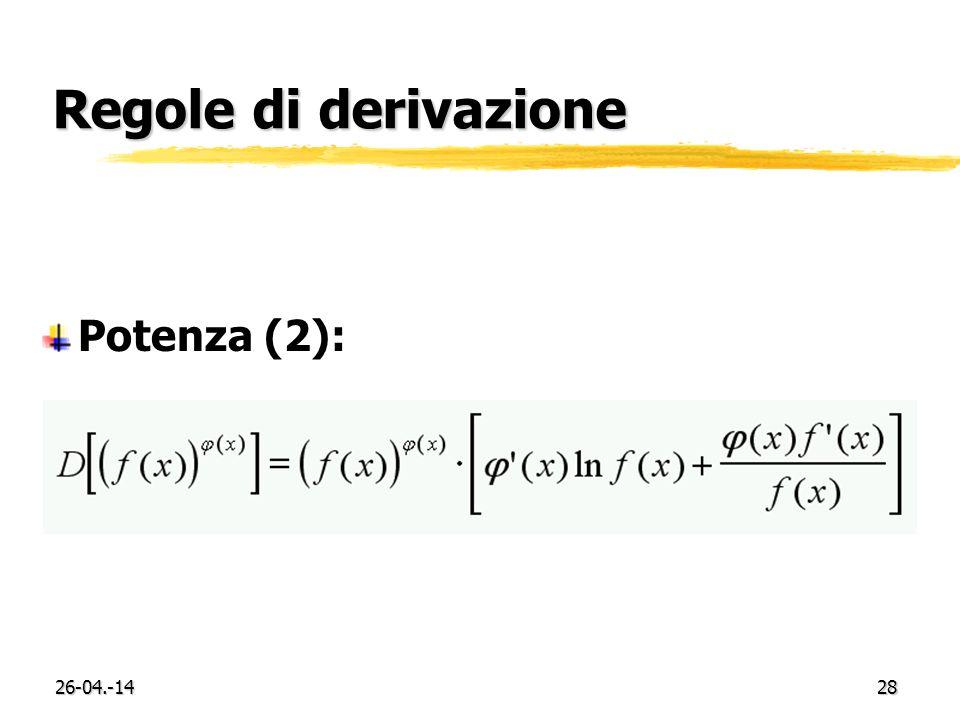26-04.-1428 Regole di derivazione Potenza (2):