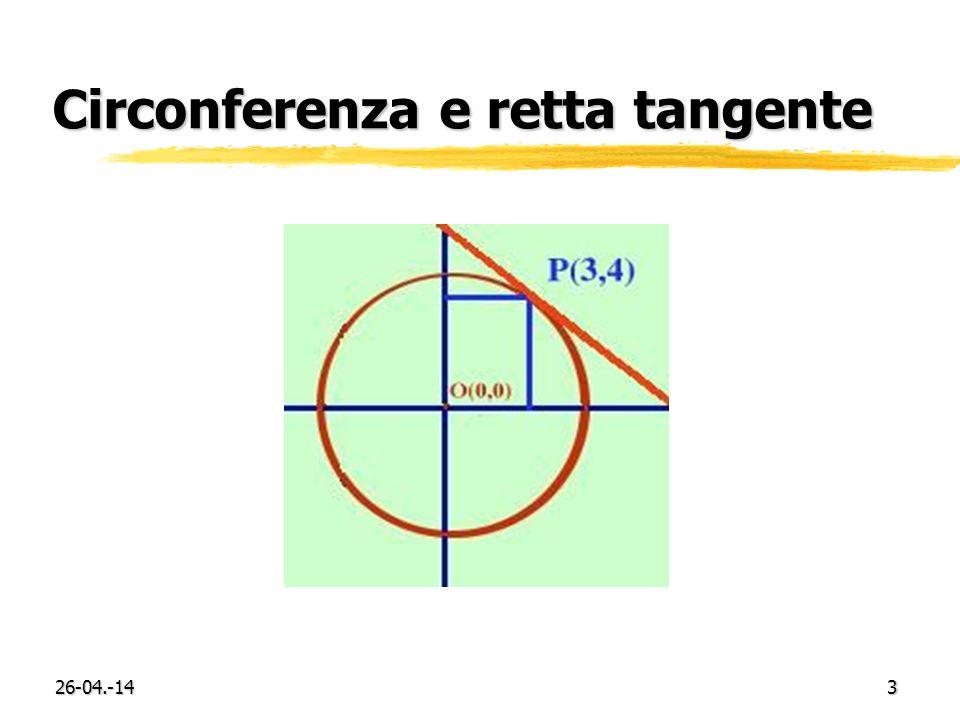 26-04.-143 Circonferenza e retta tangente
