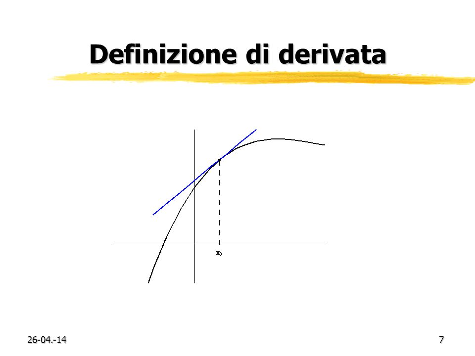 26-04.-147 Definizione di derivata