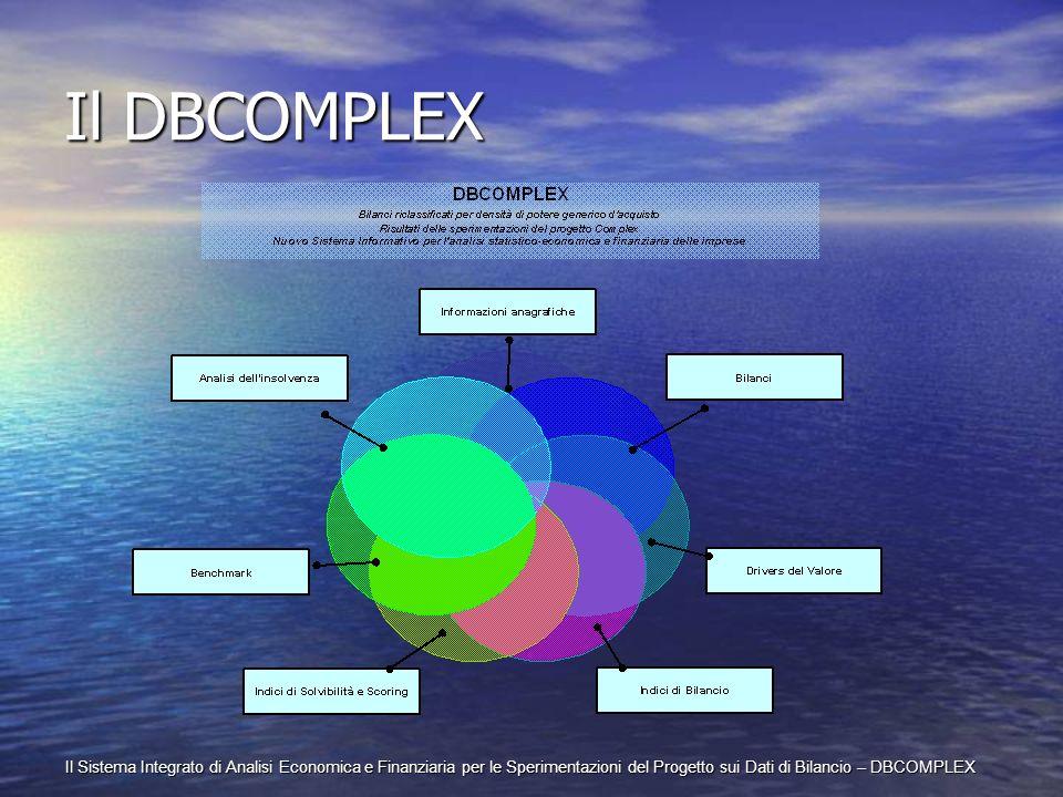 Il Sistema Integrato di Analisi Economica e Finanziaria per le Sperimentazioni del Progetto sui Dati di Bilancio – DBCOMPLEX Il DBCOMPLEX