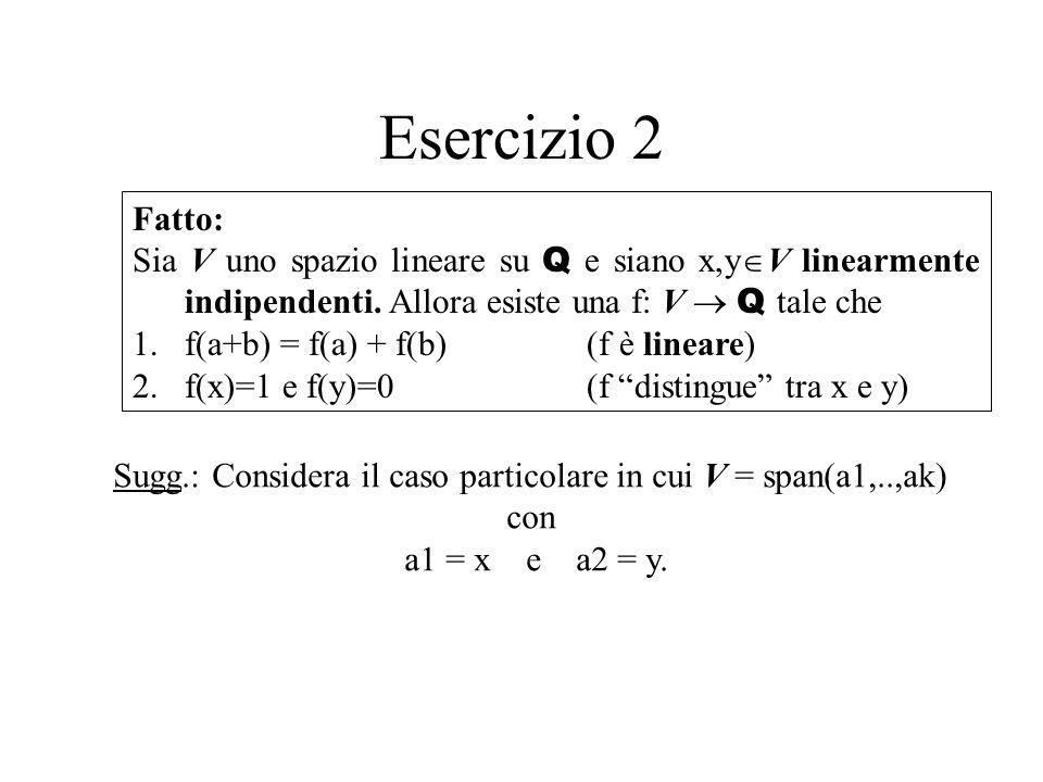 Esercizio 1 Suggerimenti: triangolo qualsiasi rettangolo oblungo (2base < altezza) rettangolo non-oblungo (2base altezza) Ad esempio Dimostra luguaglianza (puoi fare un numero finito qualsiasi di tagli)