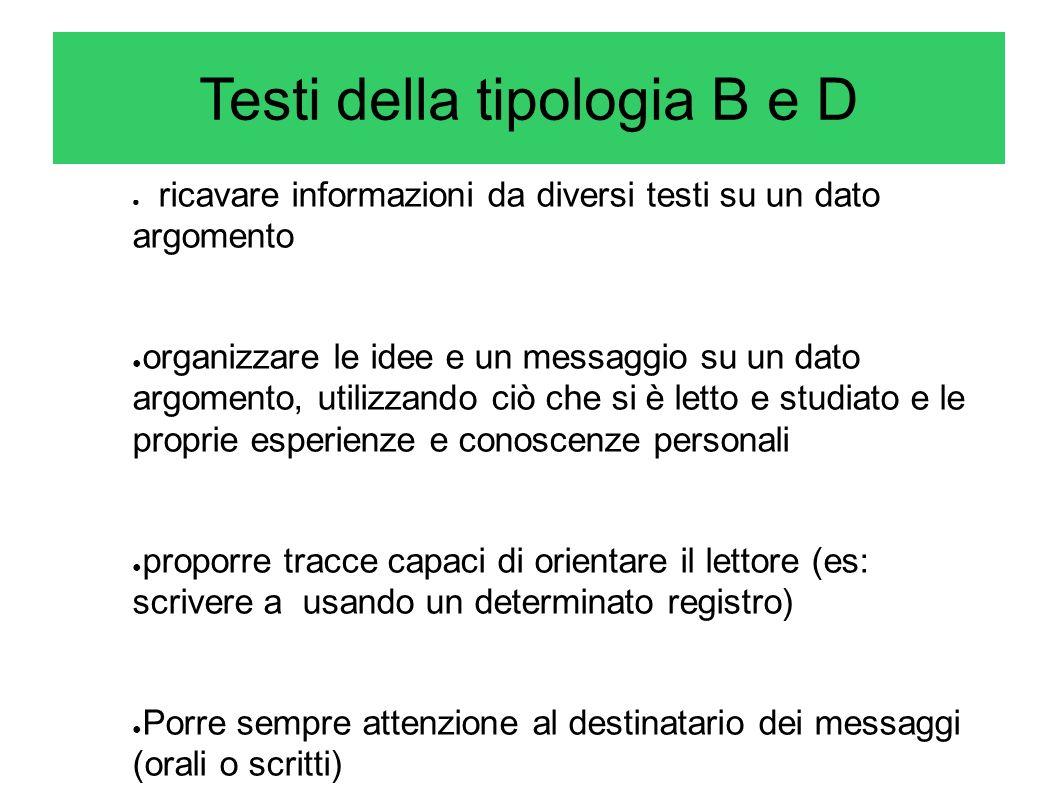 ricavare informazioni da diversi testi su un dato argomento organizzare le idee e un messaggio su un dato argomento, utilizzando ciò che si è letto e