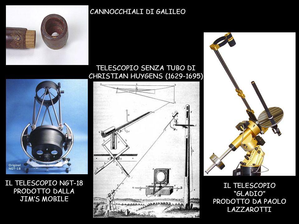 TELESCOPIO SENZA TUBO DI CHRISTIAN HUYGENS (1629-1695) IL TELESCOPIO NGT-18 PRODOTTO DALLA JIMS MOBILE IL TELESCOPIO GLADIO PRODOTTO DA PAOLO LAZZAROT