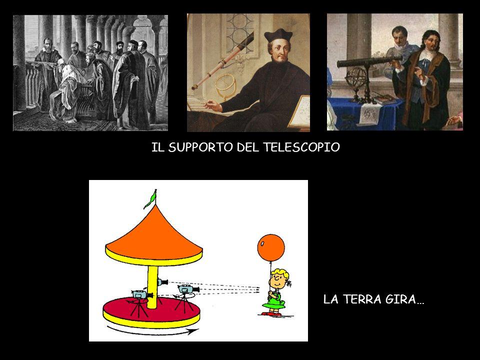 IL SUPPORTO DEL TELESCOPIO LA TERRA GIRA…