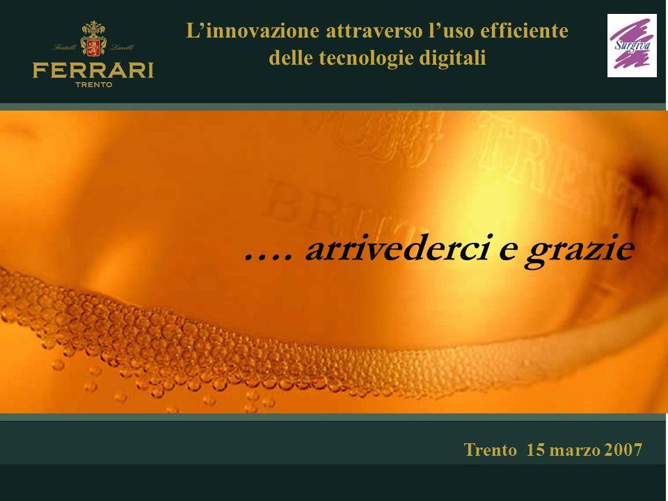 …. arrivederci e grazie Trento 15 marzo 2007 Linnovazione attraverso luso efficiente delle tecnologie digitali