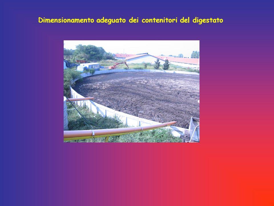 Dimensionamento adeguato dei contenitori del digestato