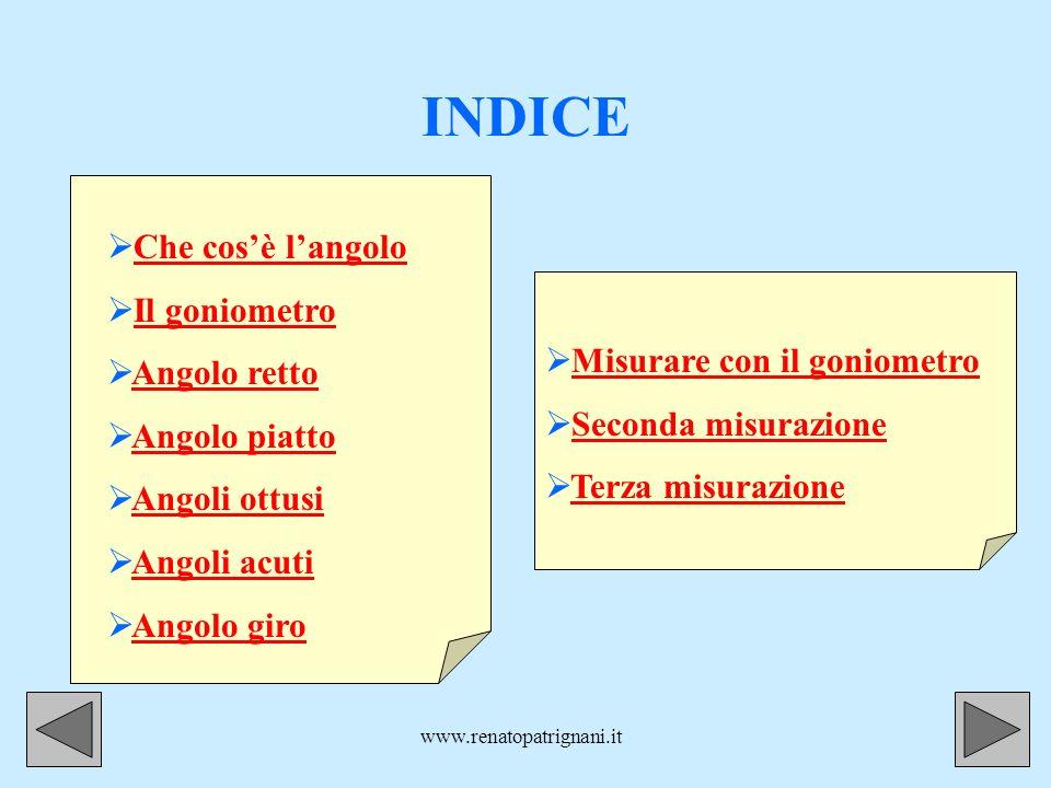 www.renatopatrignani.it.A a b Ultimo angolo, ultima misurazione Quanto misura questangolo.