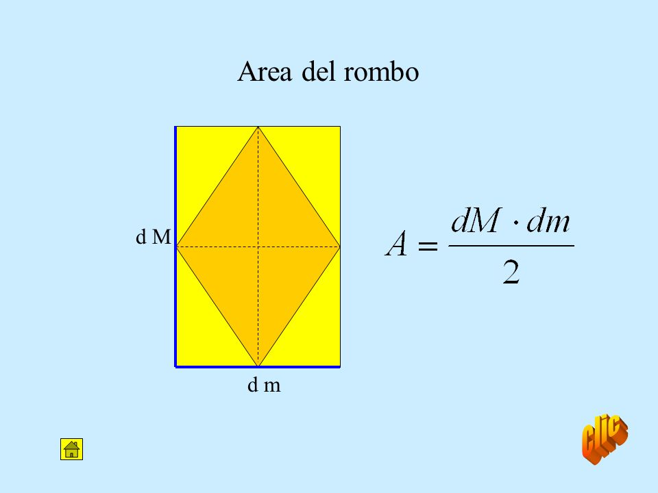 (base M + base m) x h Trapezio: formule inverse A = 2 h = 2 x A (base M + base m) base M = 2 x A h - base m base m = 2 x A h - base M