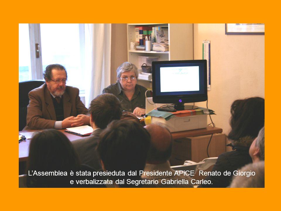 Il Tesoriere Corrado Moro ha elencato le voci del Conto Consuntivo illustrandone i contenuti.