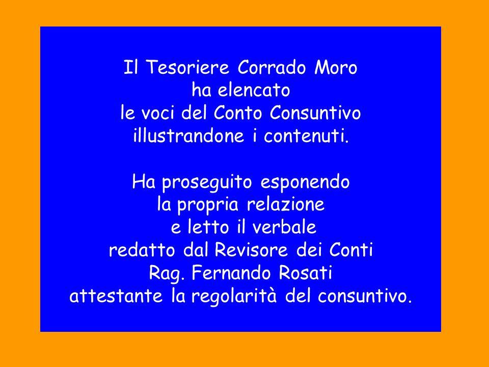 Il Tesoriere Corrado Moro