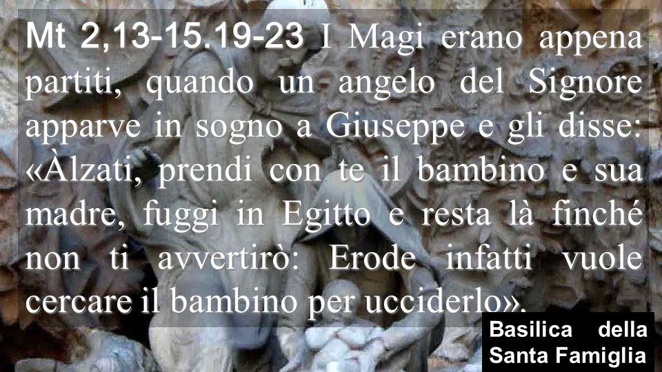 Il vangelo di Matteo, anno A, ci presenta GIUSEPPE oggi, in viaggio per lEgitto come laltro Giuseppe, figlio di Giacobbe e SALVA la Santa Famiglia Natale vuole essere una GRANDE FAMIGLIA che avanza unita