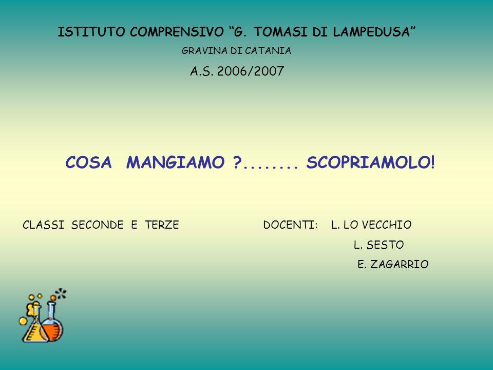 ISTITUTO COMPRENSIVO G.TOMASI DI LAMPEDUSA GRAVINA DI CATANIA A.S.