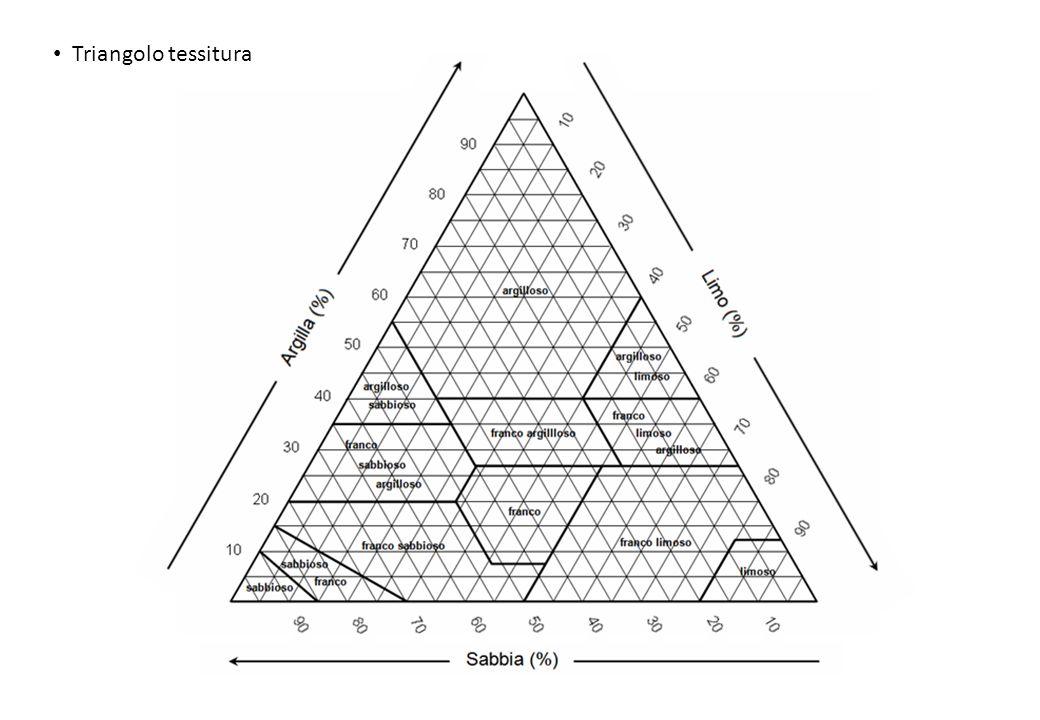 Classificazione dello scheletro Colture ed esigenze pH