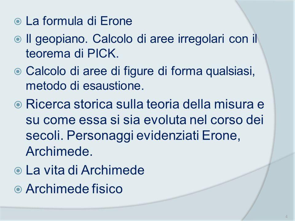 Archimede Matematico: il problema dei buoi e la quadratura della parabola Il conicografo a filo teso : la parabola Il metodo dellequilibrio di Archimede per il calcolo del segmento parabolico 5