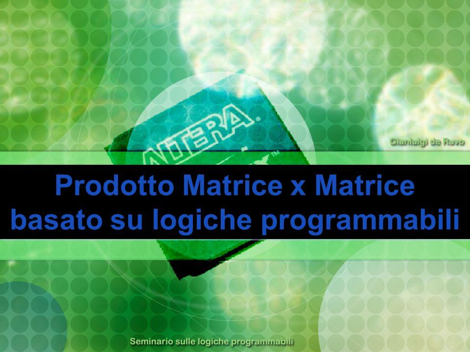 Prodotto Matrice x Matrice basato su logiche programmabili Prodotto Matrice x Matrice basato su logiche programmabili