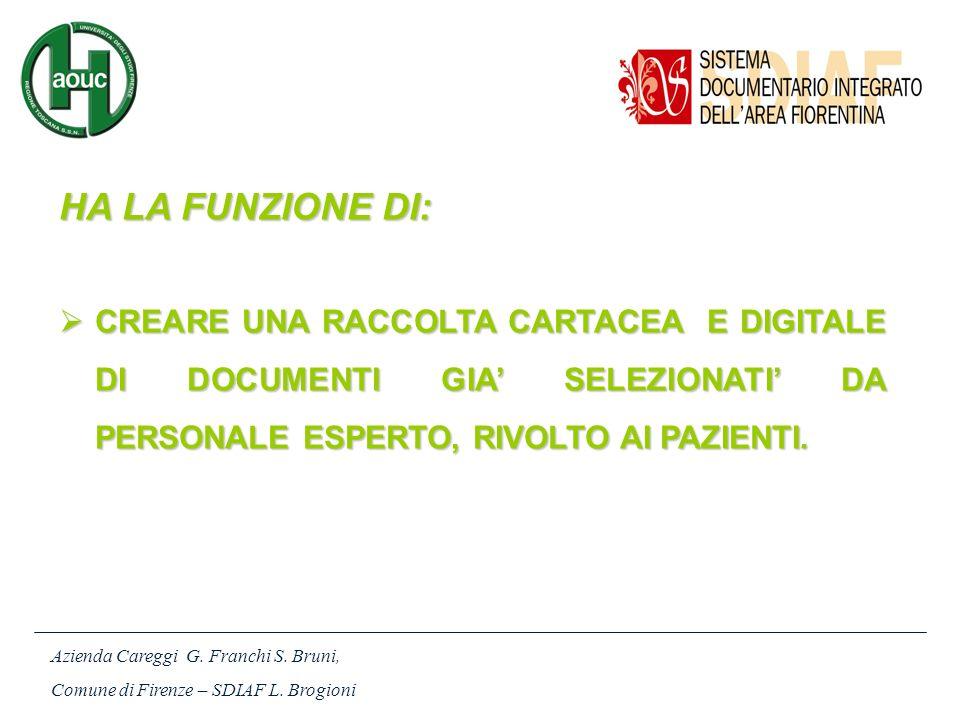 Azienda Careggi G.Franchi S. Bruni, Comune di Firenze – SDIAF L.