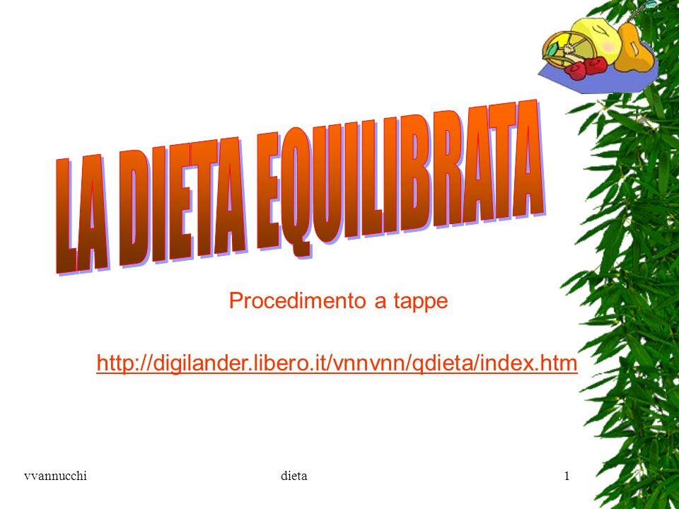 vvannucchidieta1 Procedimento a tappe http://digilander.libero.it/vnnvnn/qdieta/index.htm