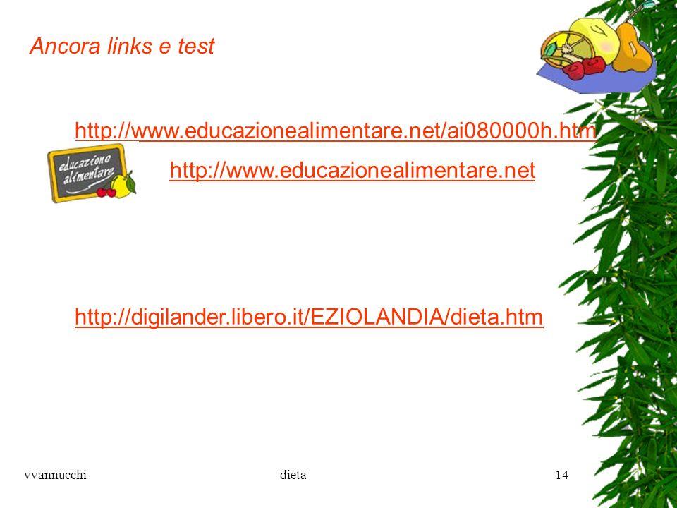 vvannucchidieta14 http://digilander.libero.it/EZIOLANDIA/dieta.htm http://www.educazionealimentare.net/ai080000h.htm http://www.educazionealimentare.n