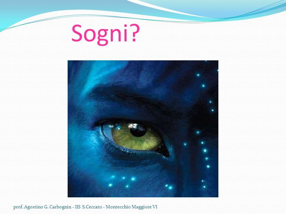 Sogni? prof. Agostino G. Carbognin - IIS S.Ceccato - Montecchio Maggiore VI