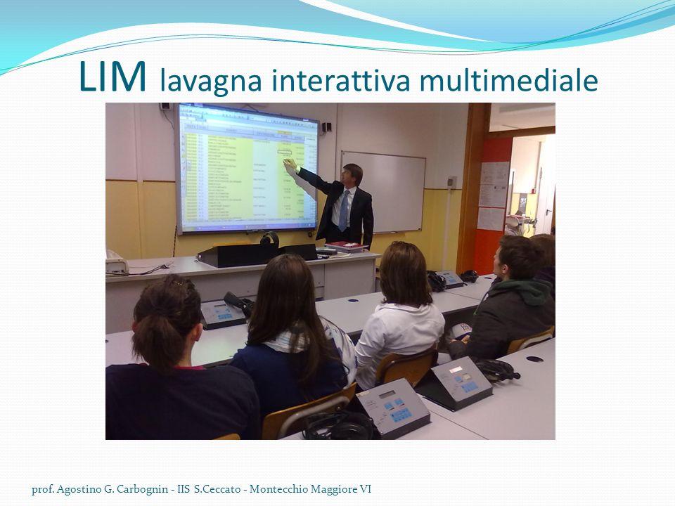 LIM lavagna interattiva multimediale prof.Agostino G.