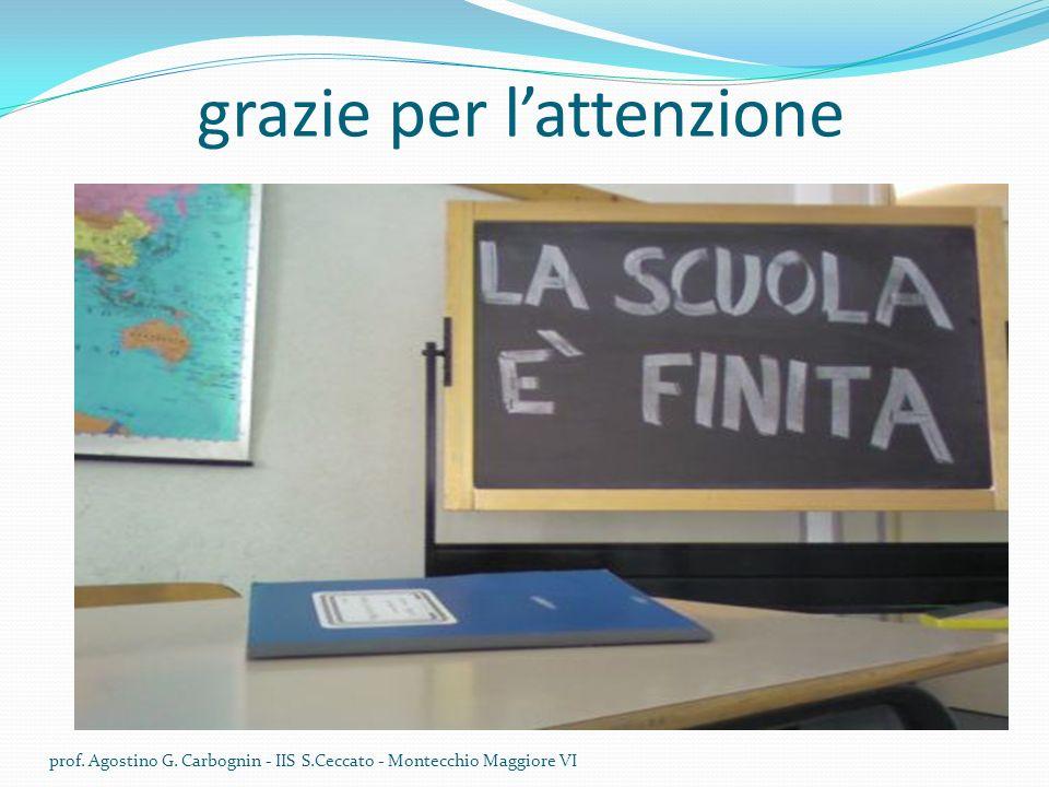 grazie per lattenzione prof. Agostino G. Carbognin - IIS S.Ceccato - Montecchio Maggiore VI
