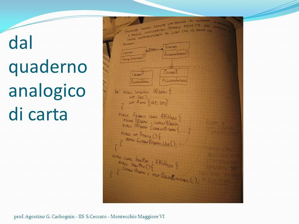 dal quaderno analogico di carta prof.Agostino G.