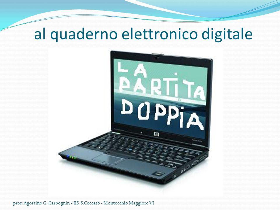 al quaderno elettronico digitale prof.Agostino G.