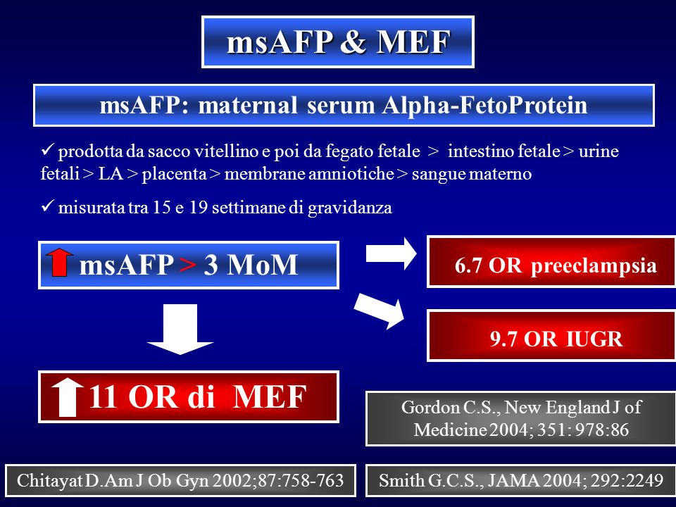 a study of the alpha fetoprotein maternal serum