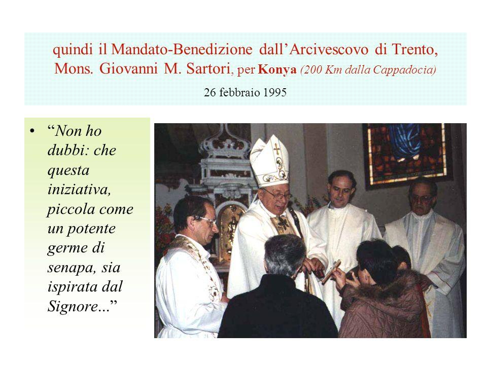quindi il Mandato-Benedizione dallArcivescovo di Trento, Mons.