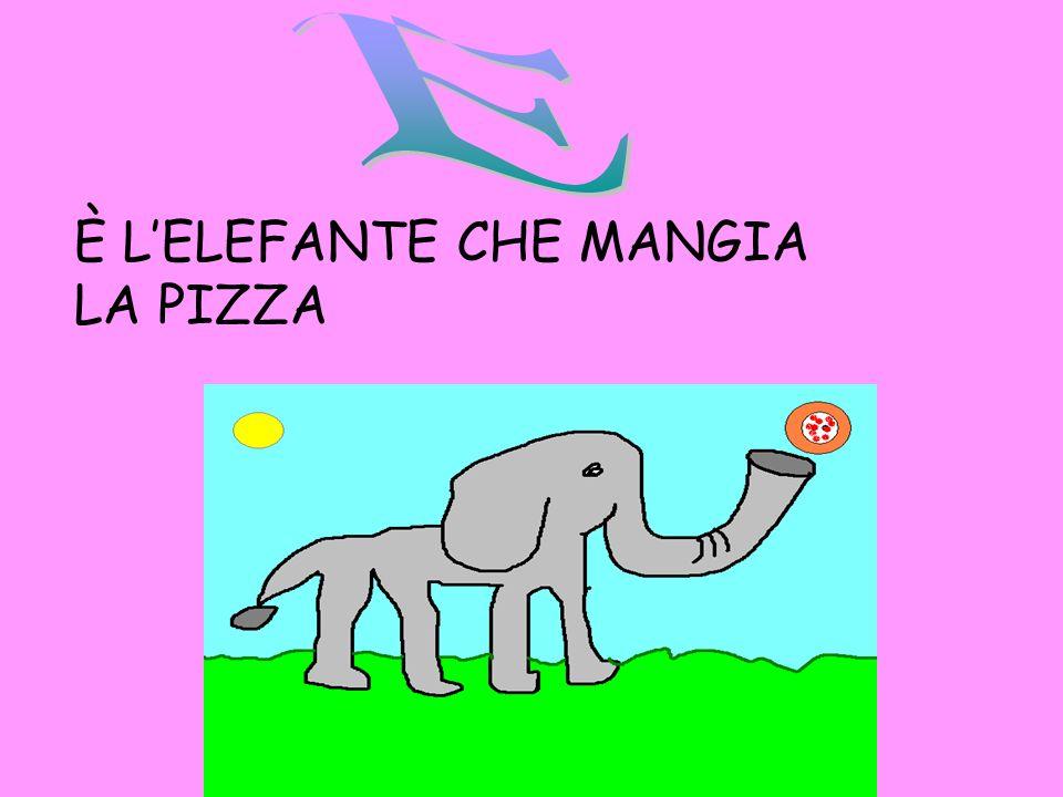 È LELEFANTE CHE MANGIA LA PIZZA