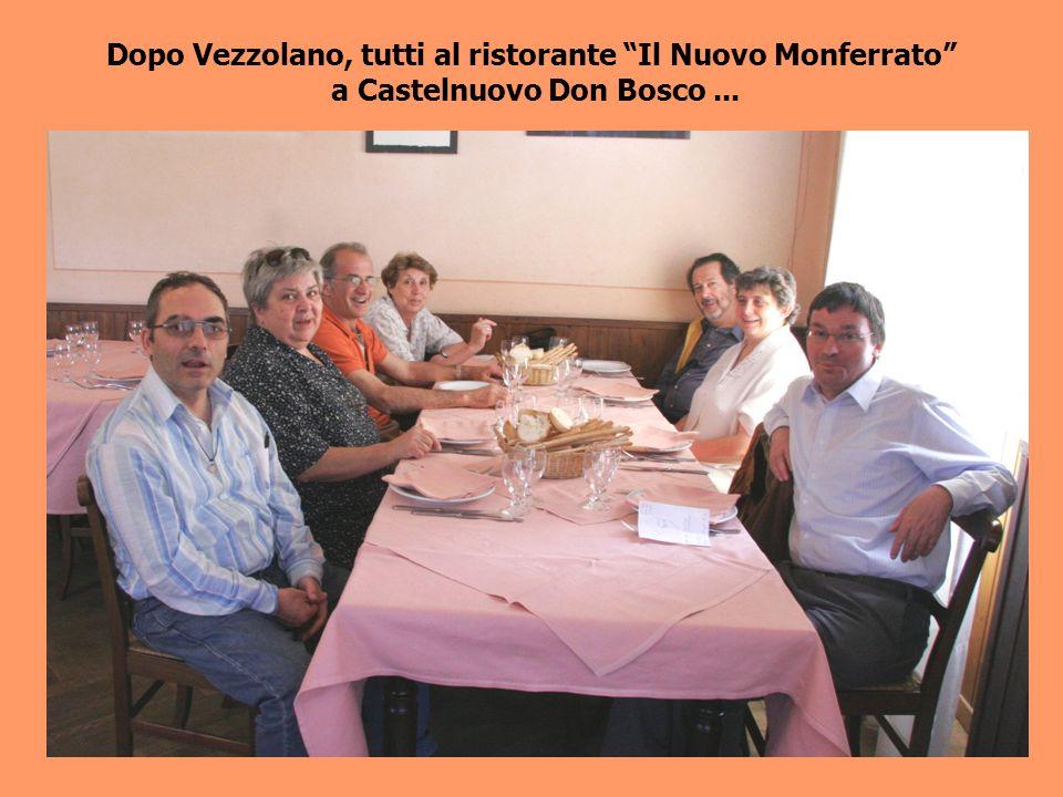 Dopo Vezzolano, tutti al ristorante Il Nuovo Monferrato a Castelnuovo Don Bosco...