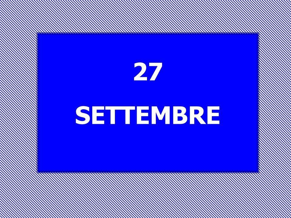 27 SETTEMBRE