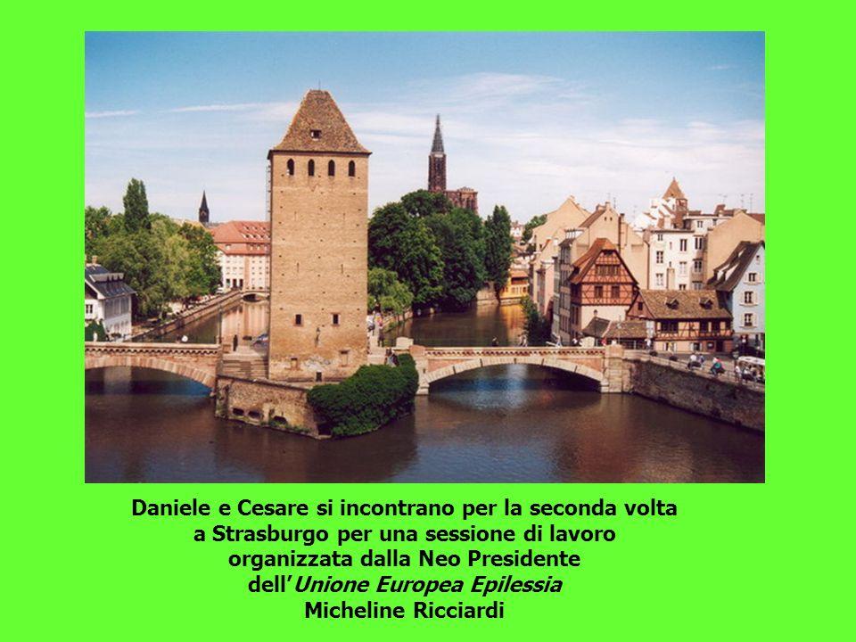 Daniele e Cesare si incontrano per la seconda volta a Strasburgo per una sessione di lavoro organizzata dalla Neo Presidente dellUnione Europea Epilessia Micheline Ricciardi