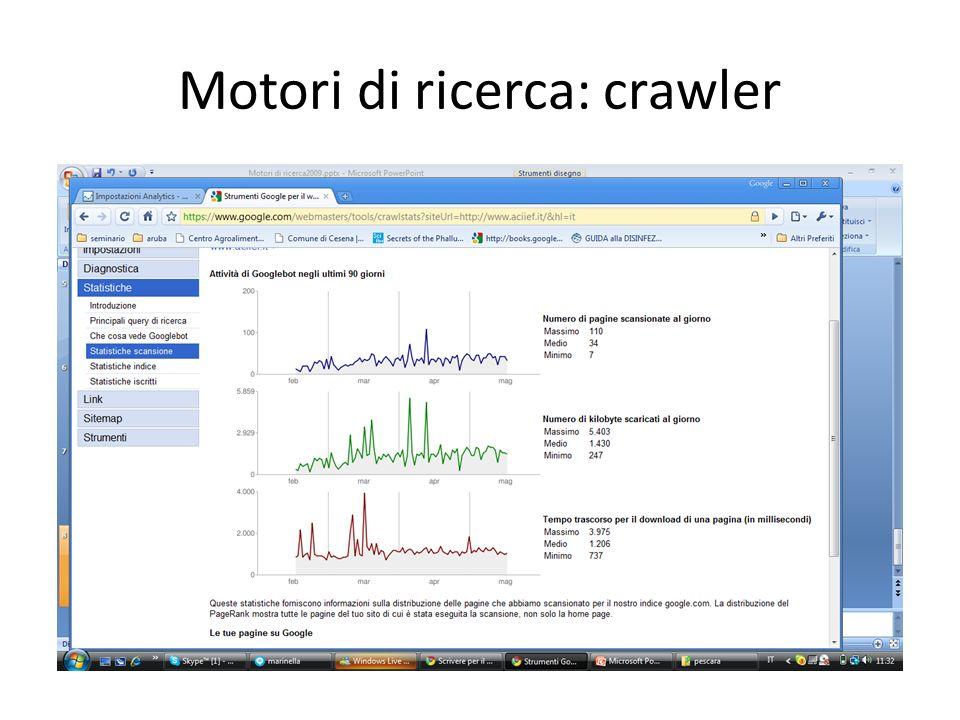 Motori di ricerca: crawler